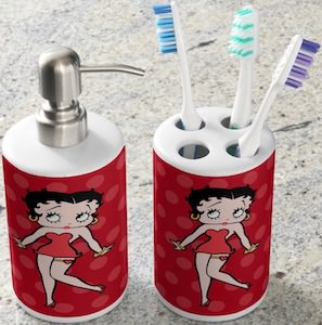 Betty Boop Bathroom Set For Soap And