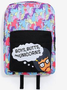 Tina Boys, Butts, And Unicorns Backpack