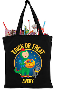 Personalized Caillou Trick Or Treat Bag