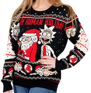 Rick And Morty Ugly Christmas Sweater.Rick And Morty Ugly Christmas Sweater For Men And Women
