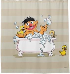 Ernie In The Bath Shower Curtain
