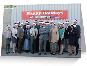 The Office Happy Holidays Greeting Card