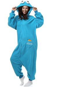 Cookie Monster Onesie Pajama Costume