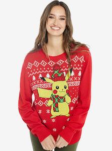 Pokemon Christmas Sweater.Pokemon Red Pikachu Christmas Sweater For Both Men And Women