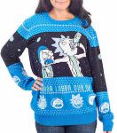 Rick And Morty Spaceship Christmas Sweater