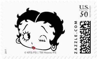 Betty Boop Postage Stamp