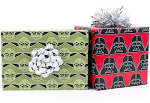 Yoda & Darth Vader Wrapping Paper