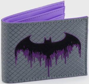 Purple Batman Logo Wallet
