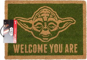 Welcome You Are Yoda Doormat