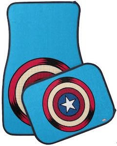 Captain America Shield Car Floor Mats