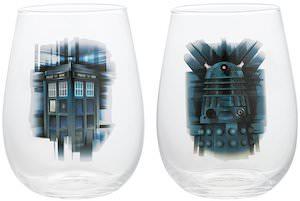 Doctor Who Tardis And Dalek 2 Piece Glass Set