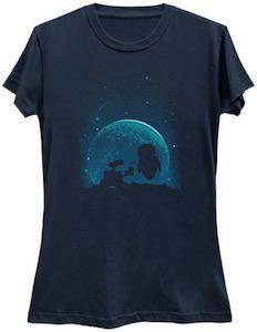 Wall-E Gives Eve Flowers T-Shirt