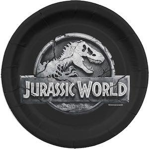 Jurassic World Logo Paper Plates
