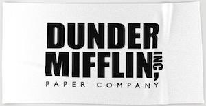 The Office Dunder Mifflin Beach Towel