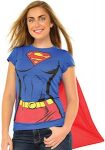 Supergirl Costume T-Shirt With Cape
