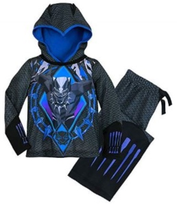 Black Panther Hooded Sleep Set Pajamas