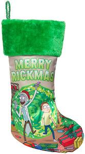 Green Rick And Morty Christmas Stocking