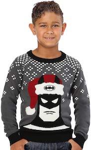 Batman With Santa Hat Kids Christmas Sweater