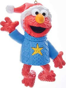 Elmo In Sweater Christmas Ornament