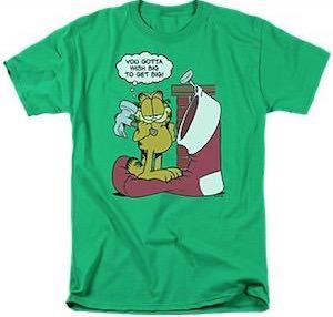 Garfield Wish Big Christmas T-Shirt