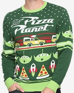 Toy Story Pizza Planet Christmas Sweater