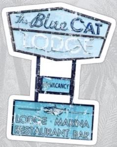 The Blue Cat Lodge Sticker