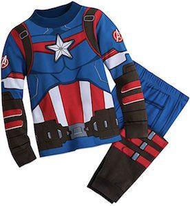 Kids Captain America Costume Pajama