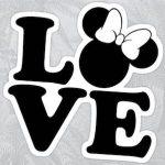 Love Minnie Mouse Sticker