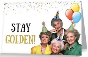 Stay Golden Greeting Card