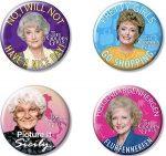 Golden Girls Button Set