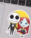Jack Skellington And Sally Sticker