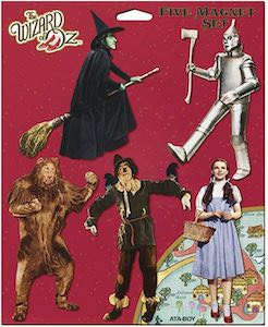 The Wizard Of Oz Character Magnet Set