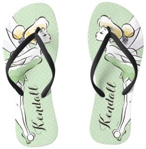 Tinker Bell Personalized Flip Flops