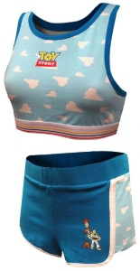 Toy Story Woody And Buzz Bralette Short Set
