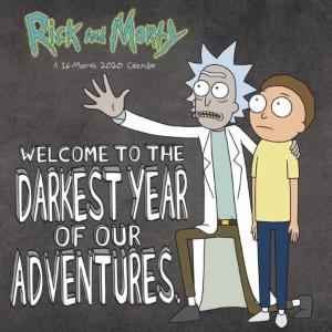 2020 Rick And Morty Wall Calendar
