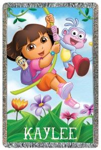 Dora The Explorer Personalized Throw Blanket