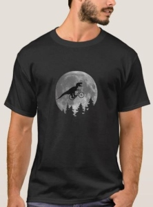 E.T. Bicycle Moon T-Rex T-Shirt