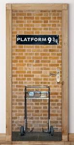 Platform 9 3/4 Wall Door Decal Sticker