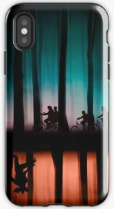 Stranger Things Both Worlds Forest iPhone Case