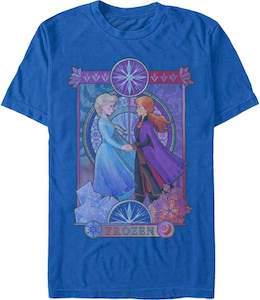 Anna And Elsa Holding Hands T-Shirt