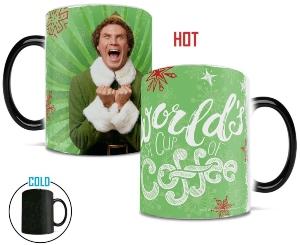 Elf Worlds Best Cup Of Coffee Heat Change Mug