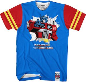 Striped Sleeves Optimus Prime T-Shirt