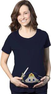 DC Comics Wonder Woman On Board Maternity T-Shirt