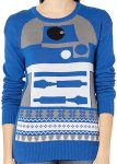 Star Wars Blue R2-D2 Christmas Sweater