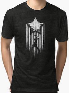 Captain America And A Star T-Shirt
