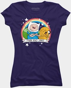 Fin And Jake Rainbow T-Shirt