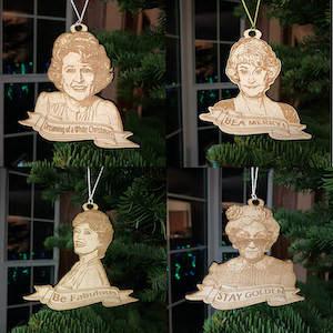 Golden Girls Wooden Christmas Ornaments