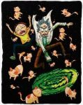 Rick And Morty Cat Portal Blanket