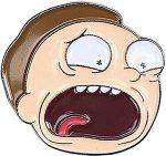 Rick and Morty Screaming Morty Pin
