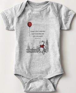 Winnie the Pooh Wants Balloon Baby Bodysuit